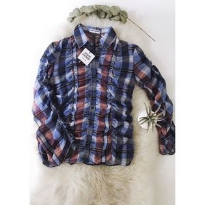 Opening Ceremony Plaid Button-up blouse